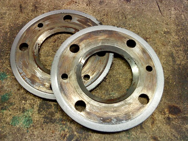 Brake disc recycled to spacers